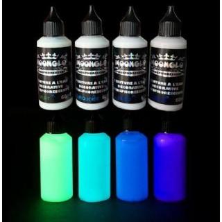 Photophosphoreszierende Wasserfarbe MOONGLO 4 Farben Satz