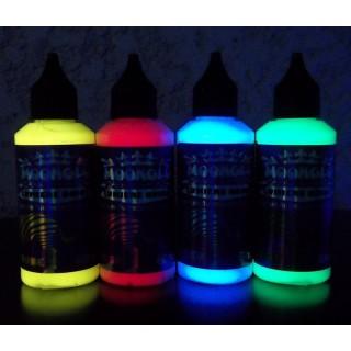 Schwarzlicht unsichtbarer fluoreszierender 4 Farben Satz